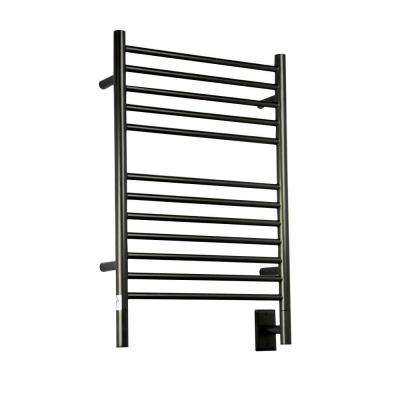 Jeeves E-Straight 20.5 in. W x 31 in. H 12-Bar Electric Towel Warmer in Oil Rubbed Bronze