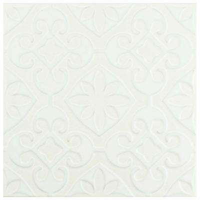 Triplex Valverde White 7-3/4 in. x 7-3/4 in. Ceramic Floor and Wall Tile (11.11 sq. ft. / case)