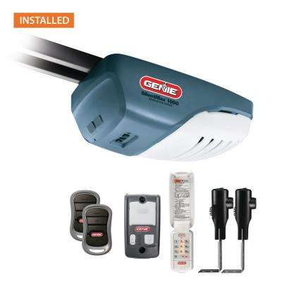 SilentMax 1000 3/4 HPc Garage Door Opener with Installation Bundle (7 ft.)