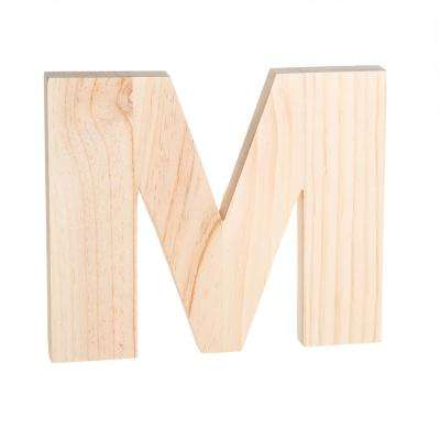 Alpha 8 in. Letter M in Unfinished Wood