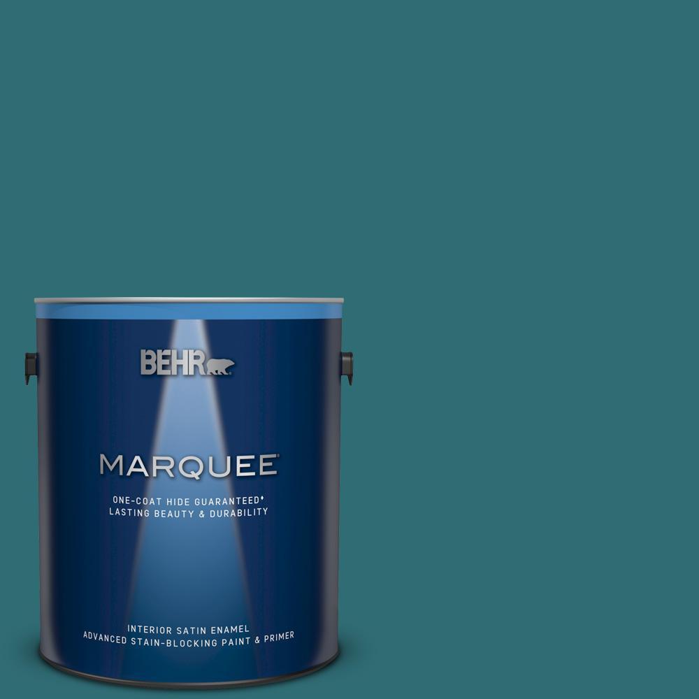 1 gal. #M460-7 Antigua Satin Enamel Interior Paint and Primer in One