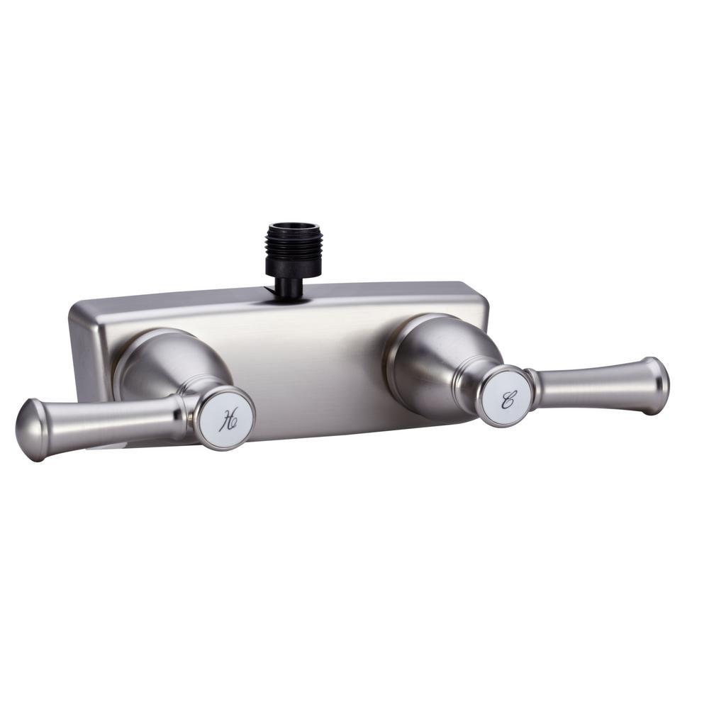2-Handle Designer RV Shower Faucet in Brushed Satin Nickel