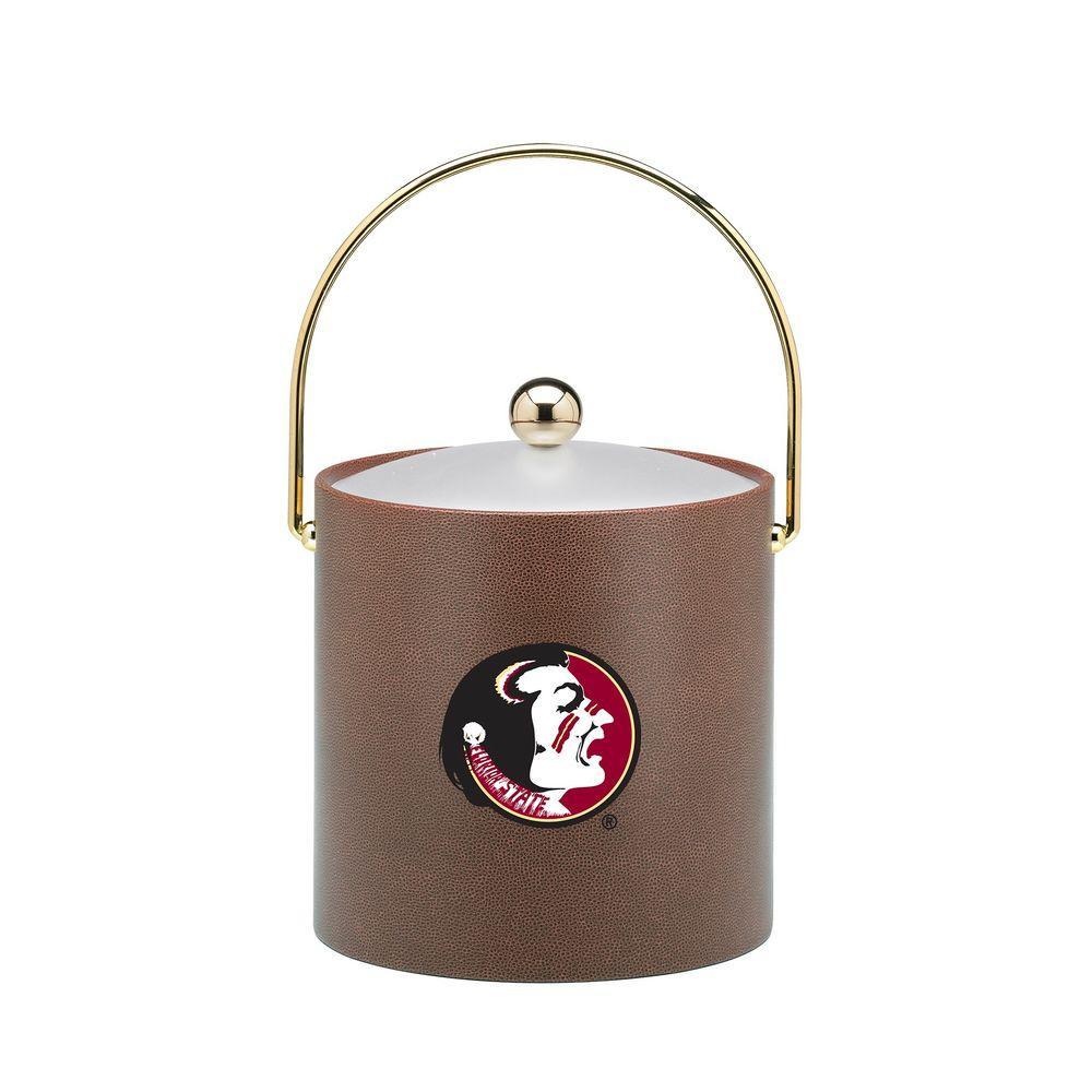 Kraftware Florida State 3 Qt. Football Texture Ice Bucket