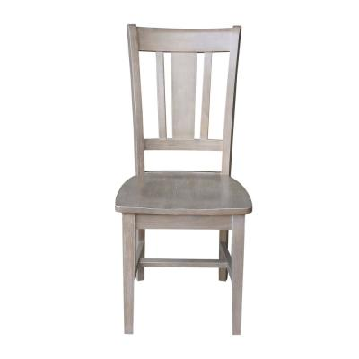 San Remo Taupe Gray Dining Chair (Set of 2)