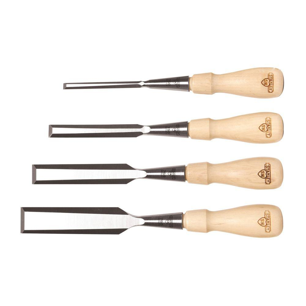 stanley sweetheart 750 series socket wood chisel set (4-piece)