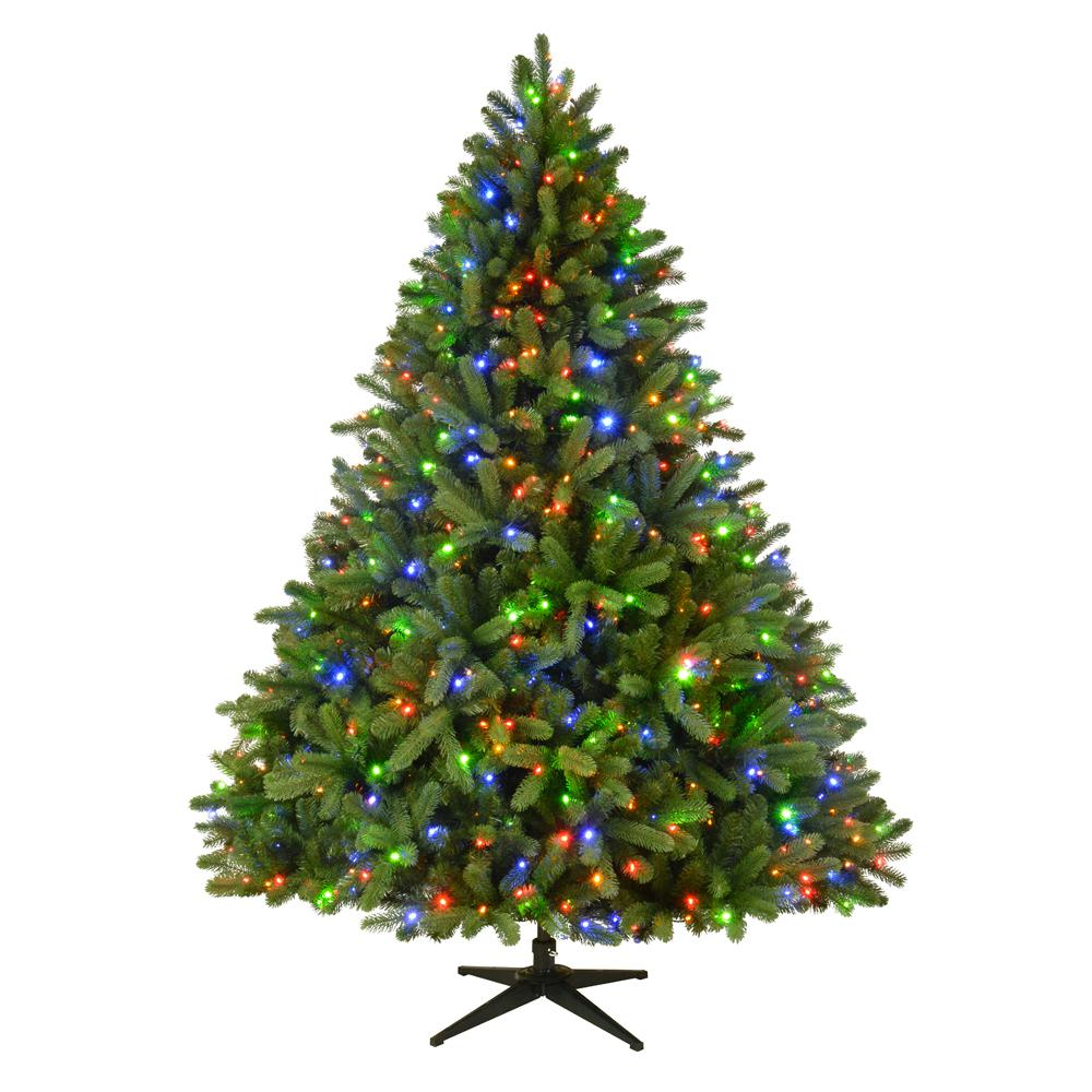 pre lit led grand fir artificial christmas tree with - Already Decorated Christmas Trees