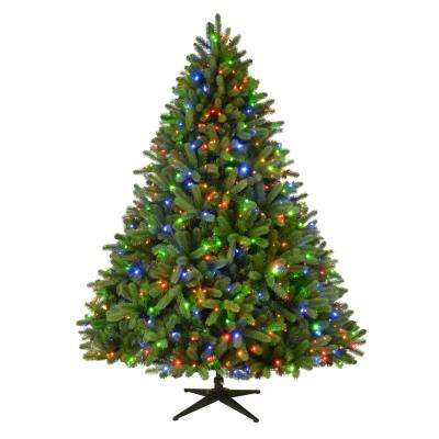 7.5 ft. Pre-Lit LED Grand Fir Artificial Christmas Tree with 750 Color Changing Supernova Lights