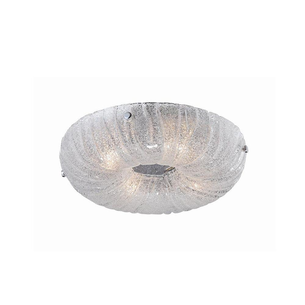 null Spectra Collection 4-Light Chrome Clear Round Flushmount