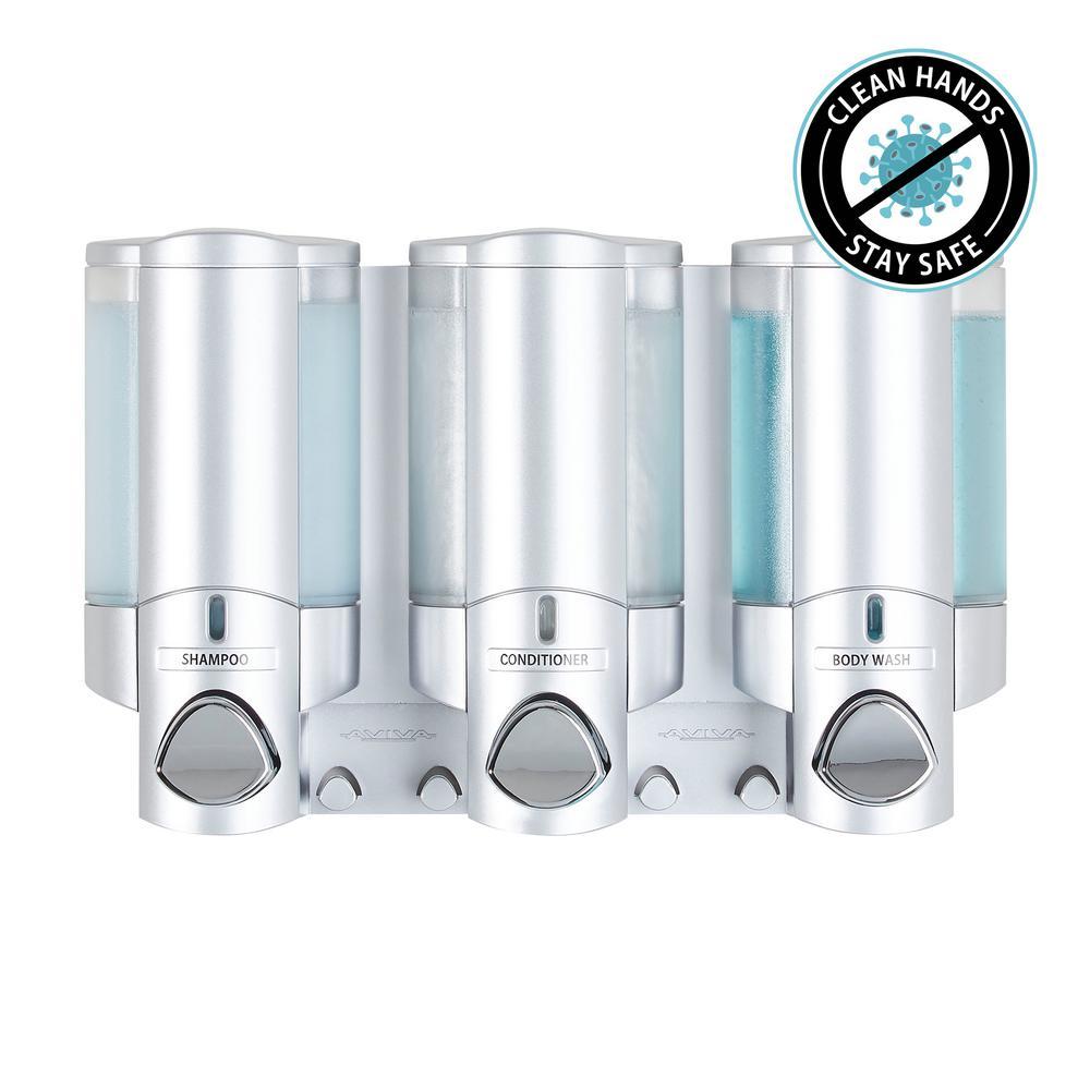 Aviva Dispenser III in Satin Silver