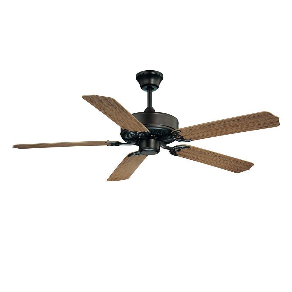 52 in. English Bronze Ceiling Fan