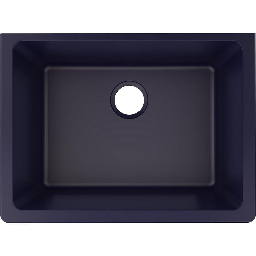 Quartz Luxe Undermount 25 in. Single Bowl Kitchen Sink in Jubilee
