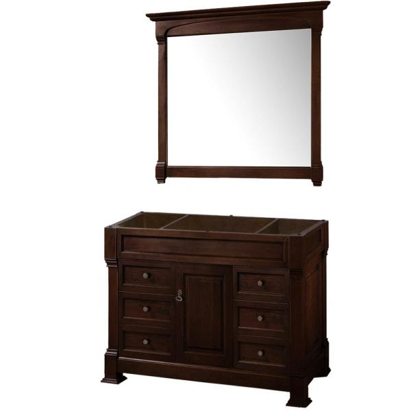 Andover 48 in. W x 22.25 in. D Bath Vanity Cabinet Only with Mirror in Dark Cherry
