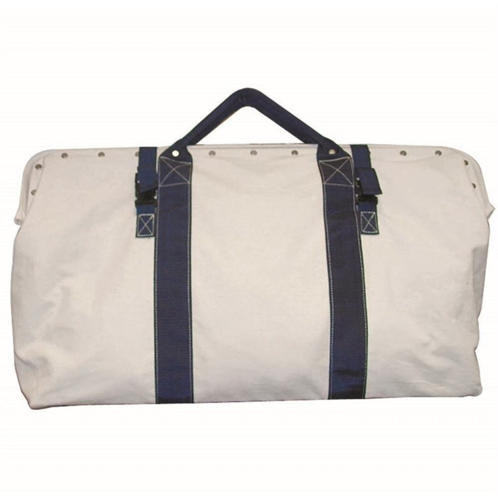 7 in. Heavy-Duty Canvas Tool Bag with Nylon Straps