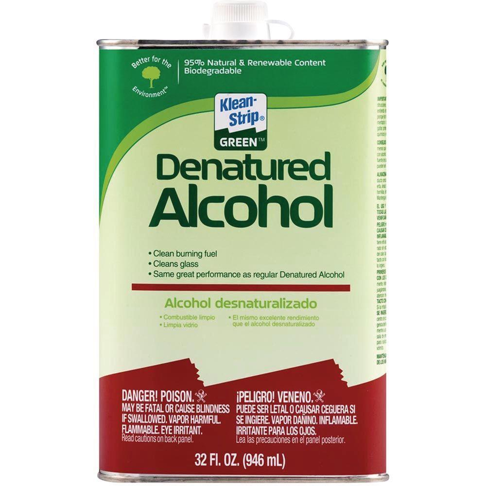 Klean strip 1 qt green denatured alcohol qkga75003 the for Green products for the home