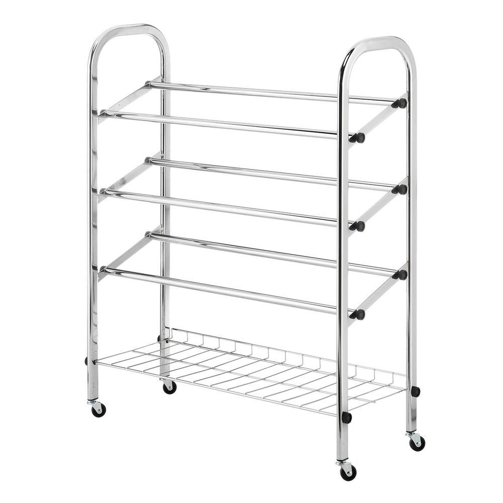rolling shelf rack whitmor deluxe rack collection 24 75 in x 31 13 in 25636