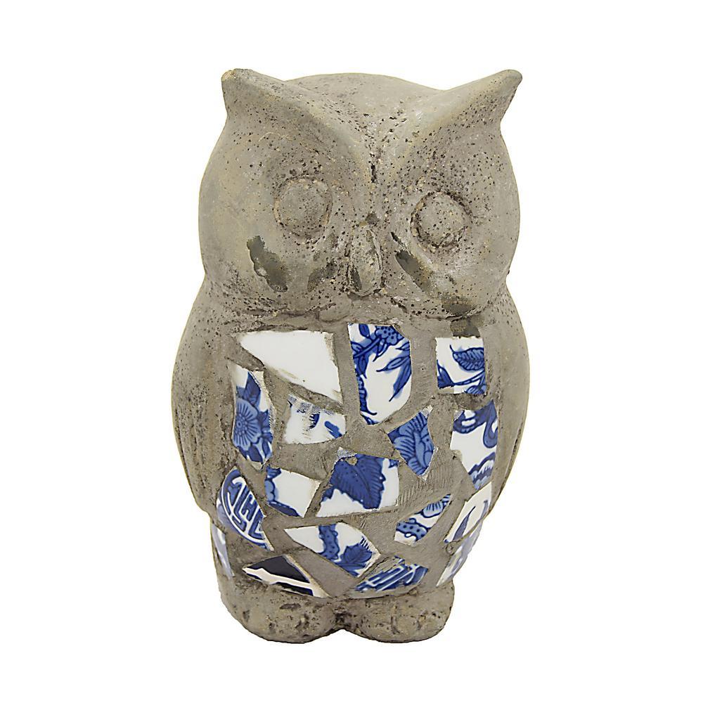 3.25 in. Gray Owl Garden Decoration