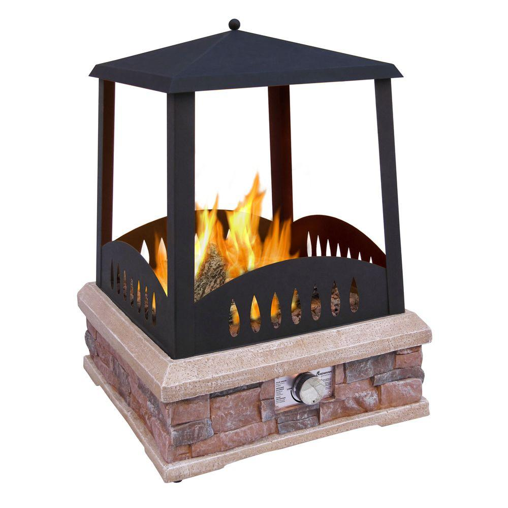 LANDMANN Grandview 24 in. Propane Gas Outdoor Fireplace