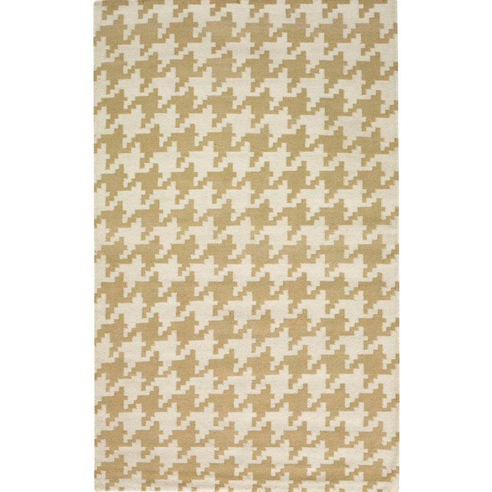 Home Decorators Collection Houndstooth Beige 8 ft. x 11 ft. Area Rug