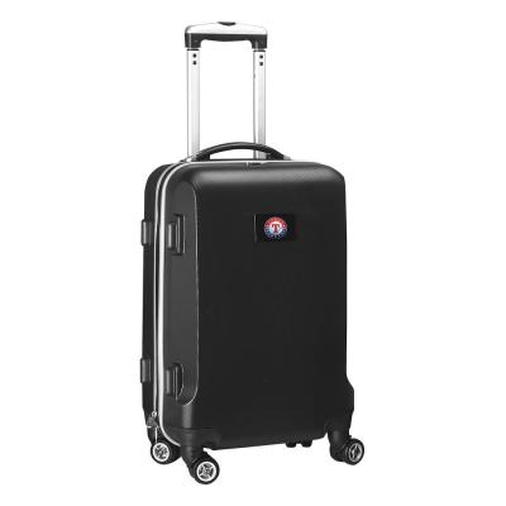 Denco MLB Texas Rangers Black 21 in. Carry-On Hardcase Spinner Suitcase