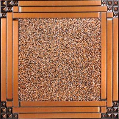 Deco Corners 2 ft. x 2 ft. PVC Glue-up or Lay in Ceiling Tile in Antique Copper