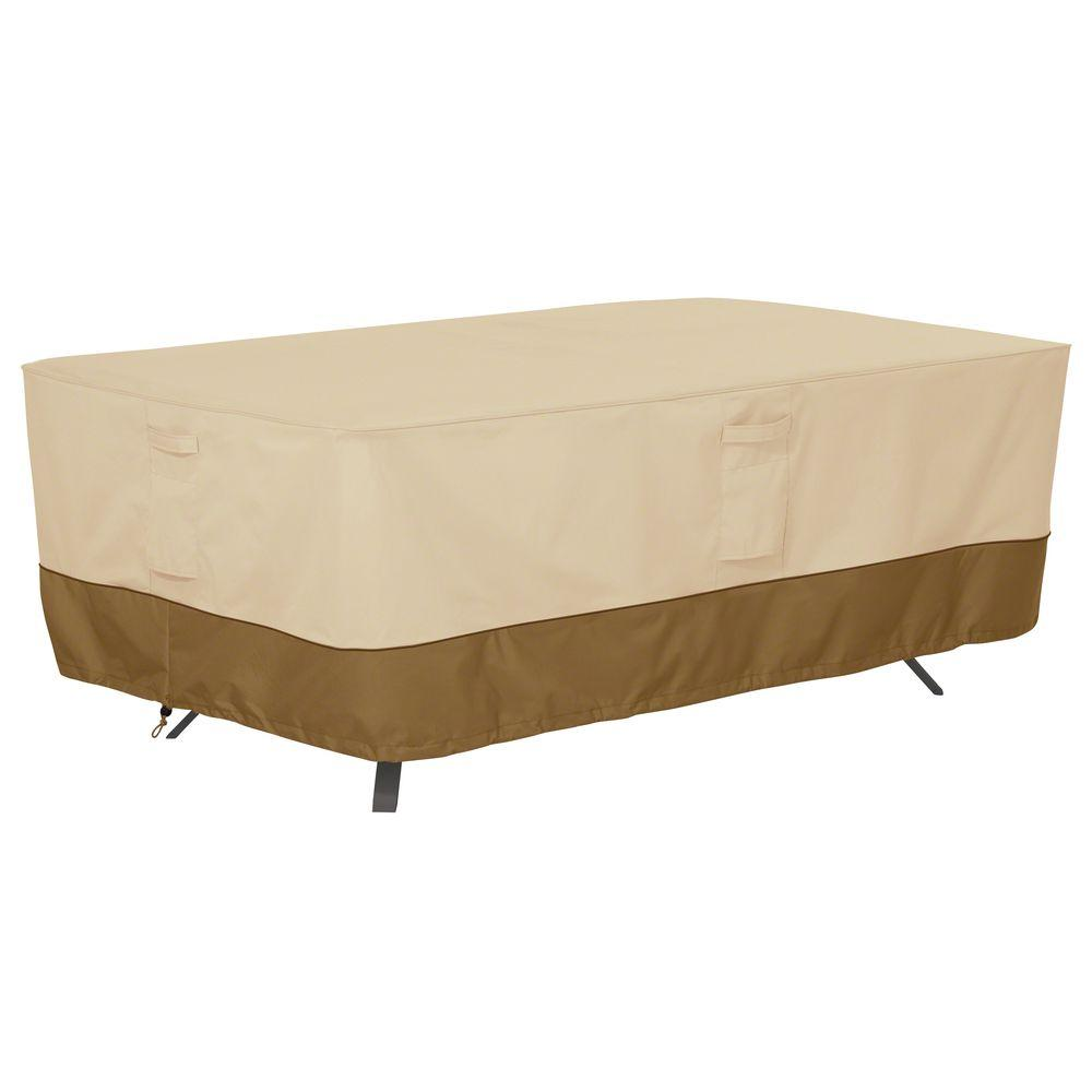 classic accessories veranda x large rectangular patio table cover 55 564 011501 00 the home depot. Black Bedroom Furniture Sets. Home Design Ideas