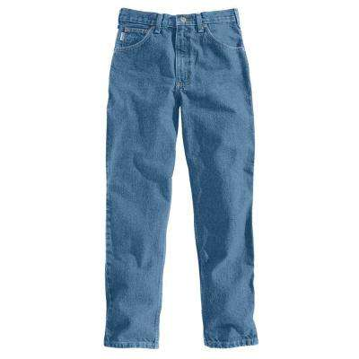 Men's 31x34 Stonewash Cotton Tapered Leg Denim Bottoms
