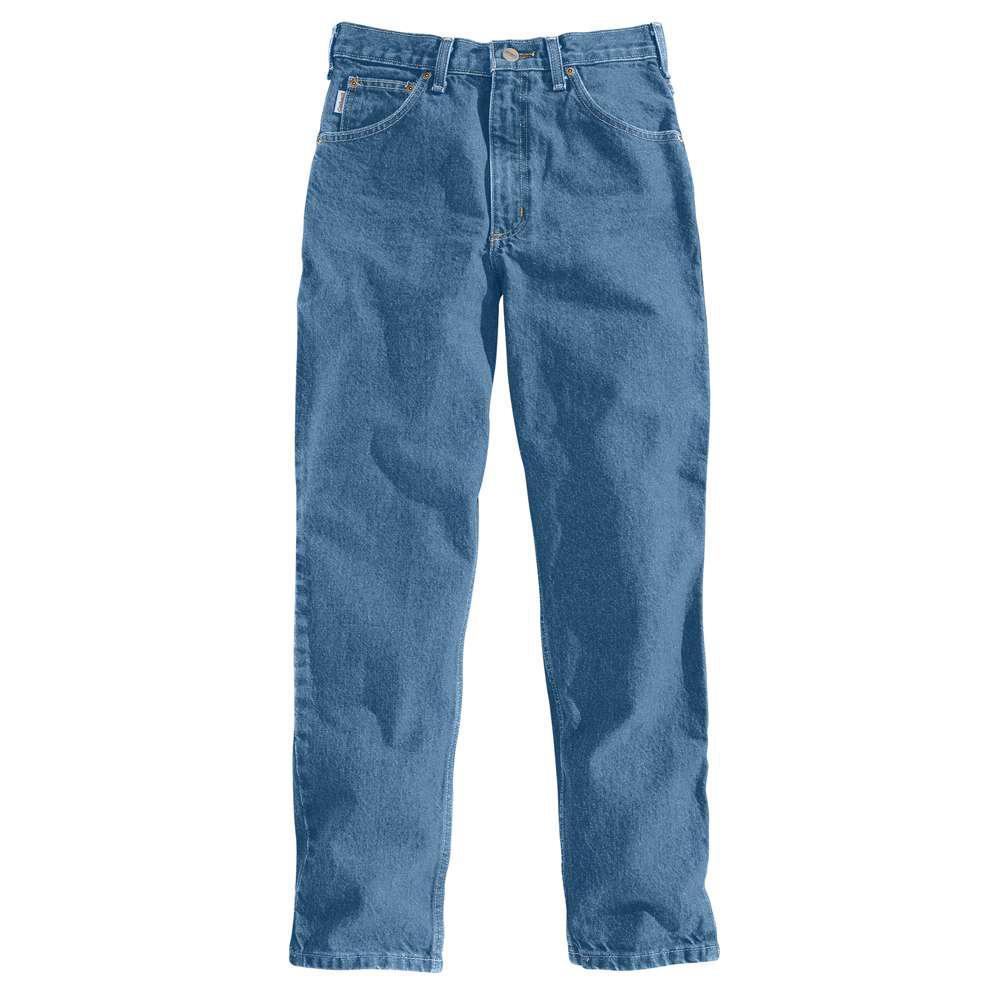 Men's 54x32 Stonewash Cotton Tapered Leg Denim Bottoms