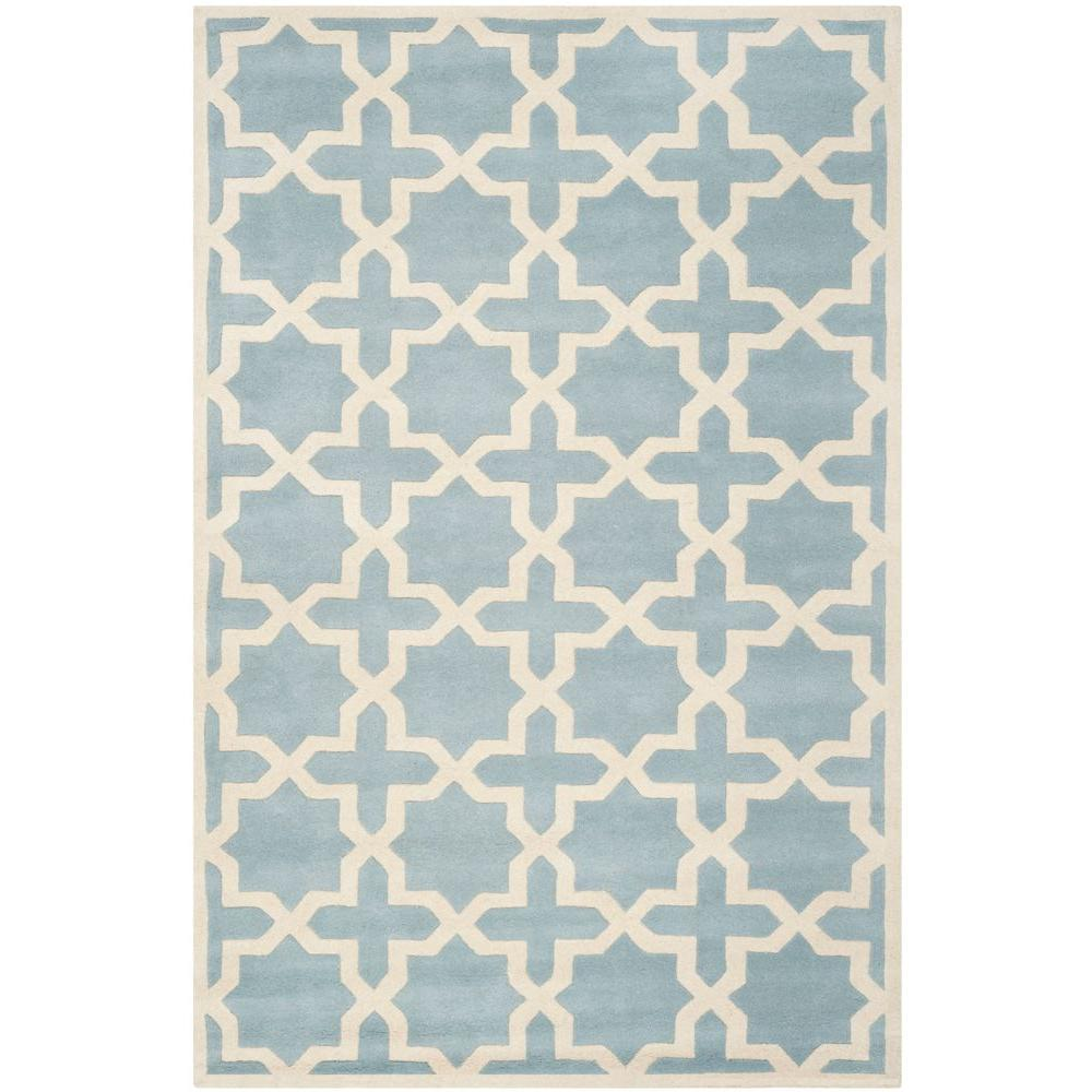 Safavieh Chatham Blue/Ivory 5 ft. x 8 ft. Area Rug