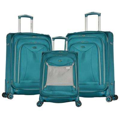 Luxe II Teal 3-Piece Expandable Spinner Set