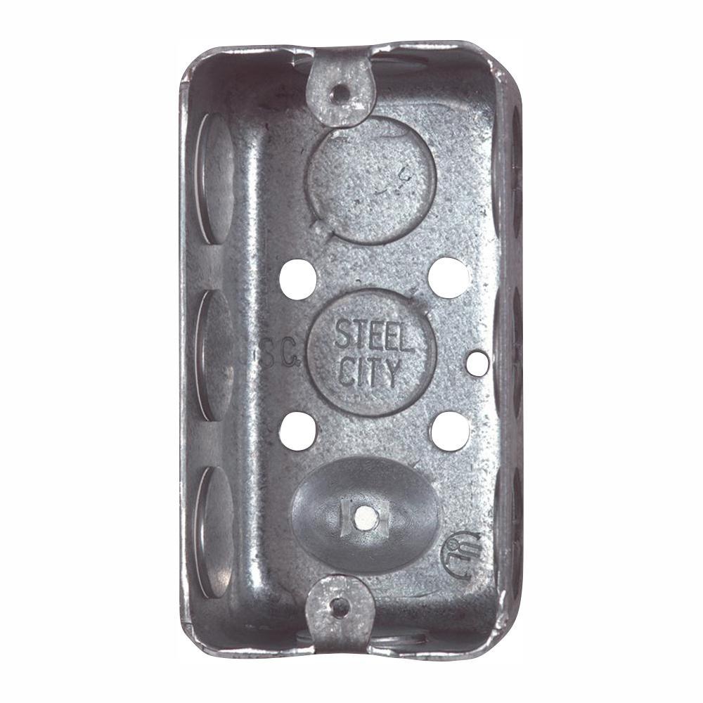 Steel City 1-Gang 4 in. 2-1/8 in. Deep New Work Metal Utility Box (Case of 25)