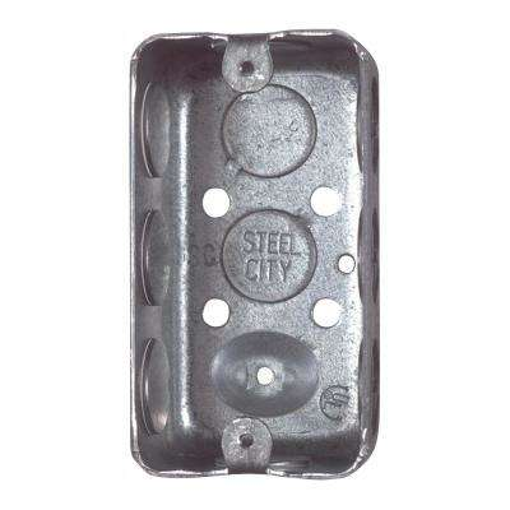 1-Gang 4 in. 2-1/8 in. Deep New Work Metal Utility Box (Case of 25)