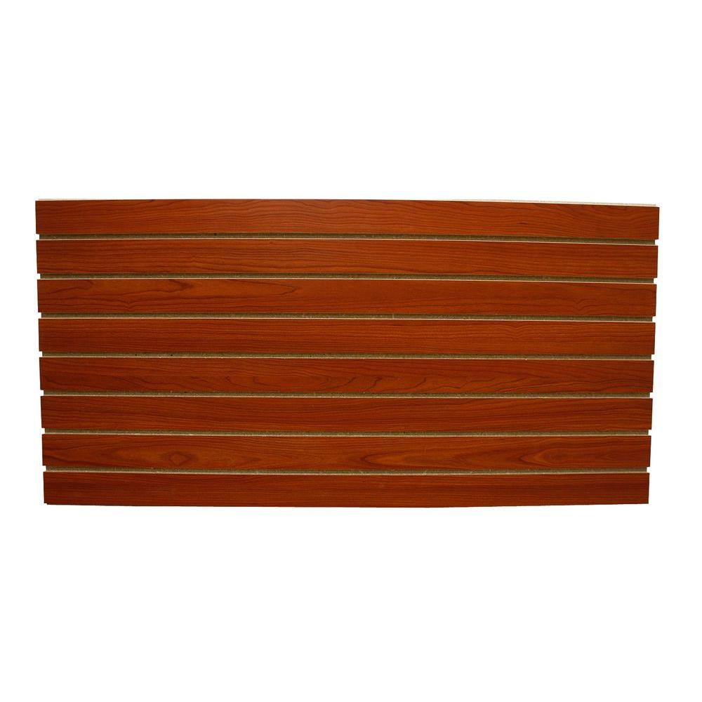 Cherry Slatwall Easy Panel 2 Piece Per Box 5039 The Home Depot