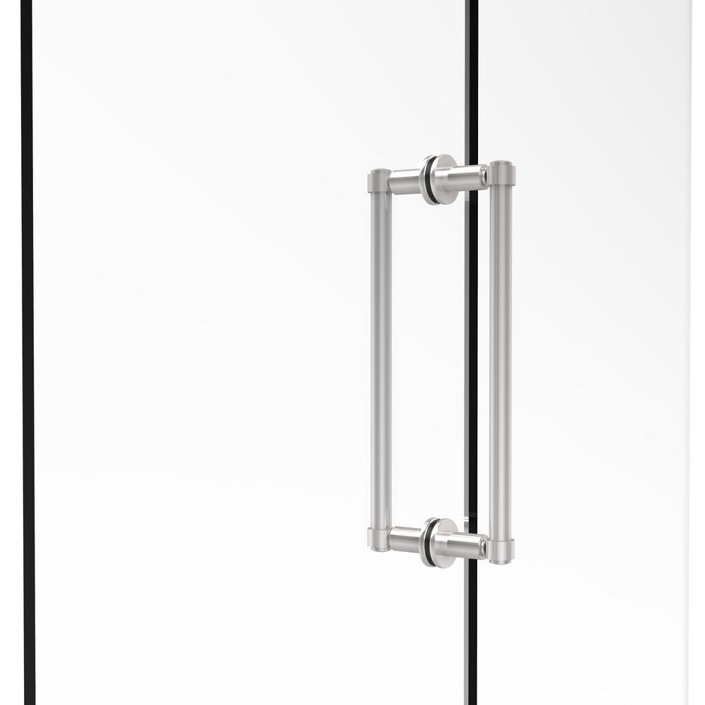 Contemporary 12 in. Back-to-Back Shower Door Pull in Polished Chrome