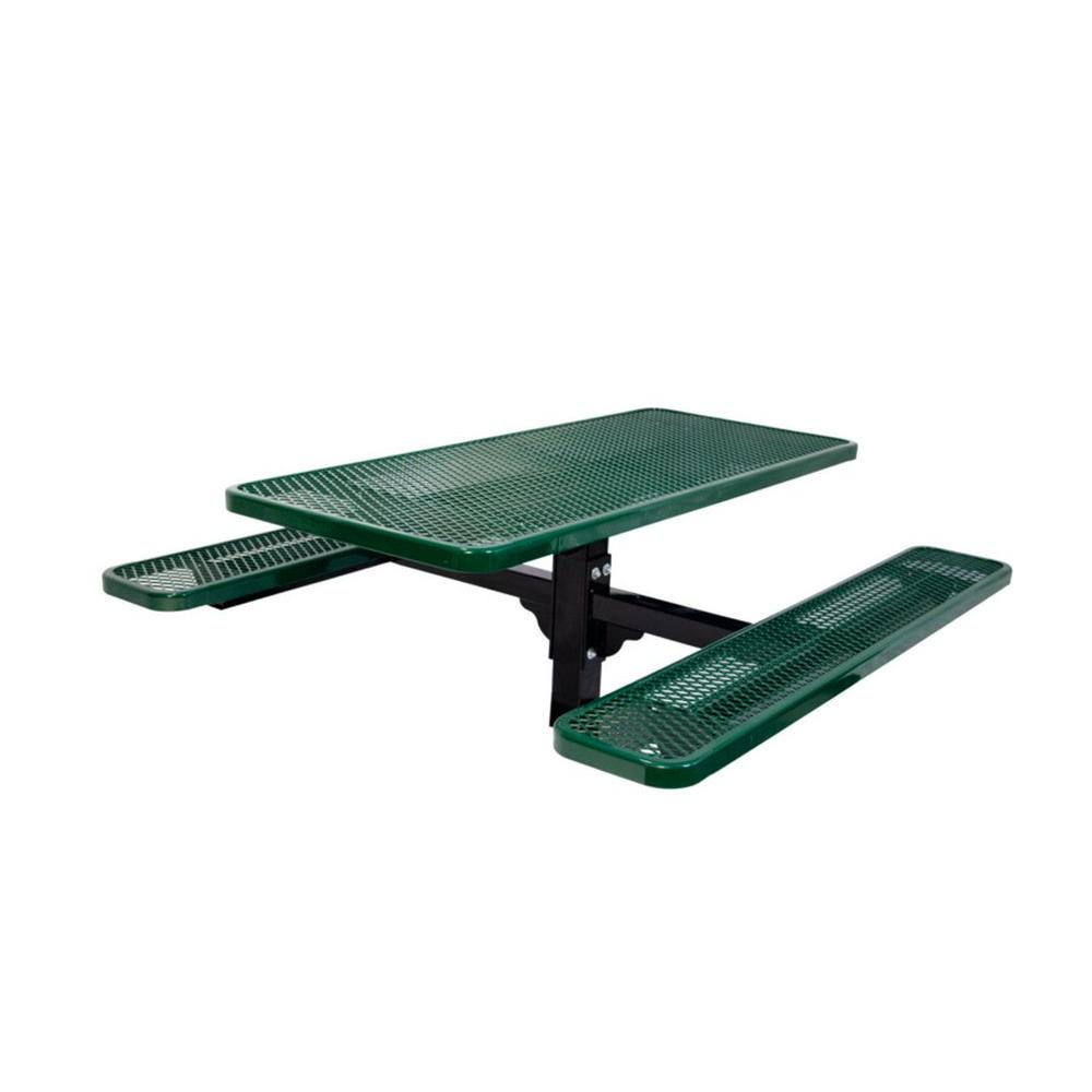 Ultra Play 6 ft. Diamond Green Commercial Park Rectangular Table in Ground