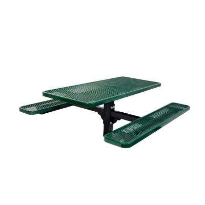 6 ft. Diamond Green Commercial Park Rectangular Table in Ground