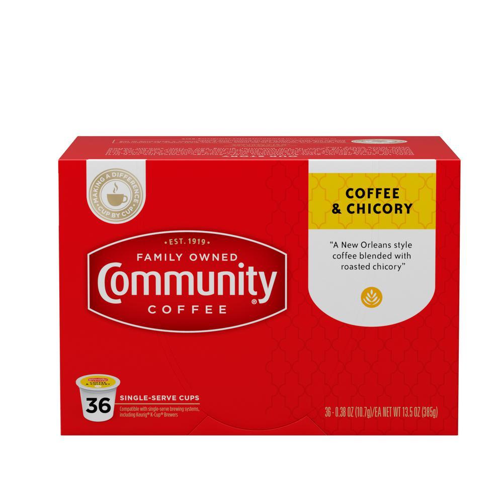 Coffee and Chicory Medium-Dark Roast Single Serve Cups (144-Pack)