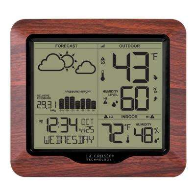 Wireless Backlight Digital Forecast Station with Pressure History and Graph