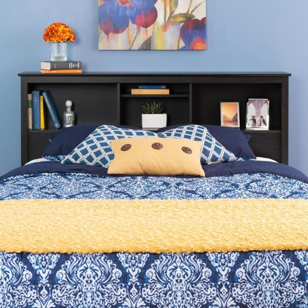 Prepac Sonoma Washed Black Double/Queen Headboard HSH-6643-V