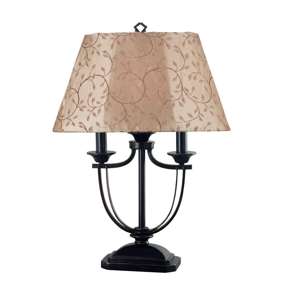 Kenroy Home Casey 28 In Oil Rubbed Bronze Table Lamp
