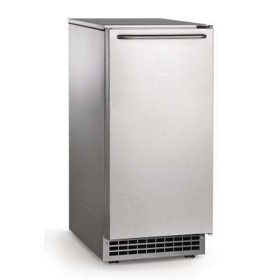 15 in. W 65 lb. Freestanding Ice Maker in Stainless Steel