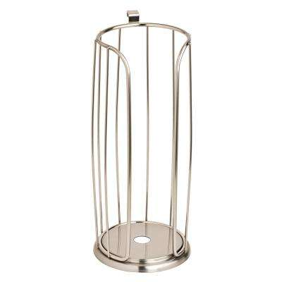 Over-the-Tank Roll Reserve Toilet Paper Holder in Satin Nickel