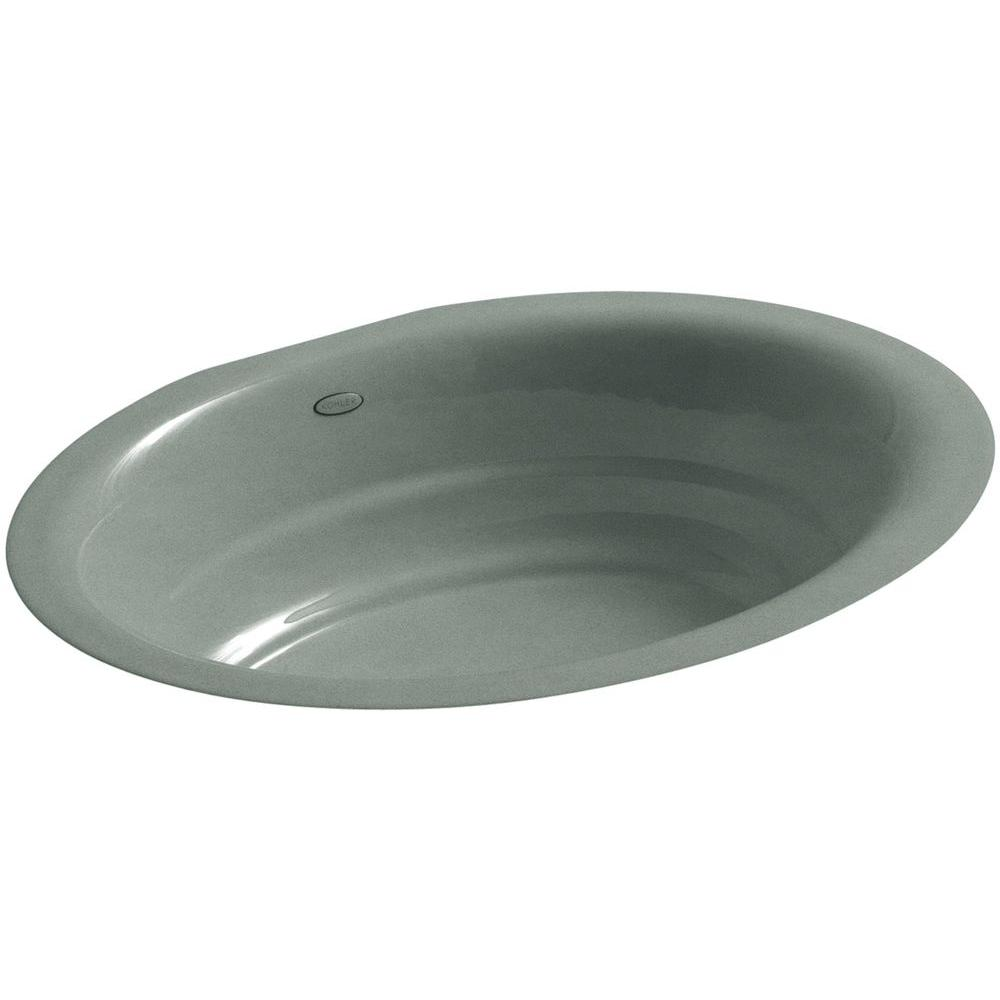 Kohler Garamond Undermount Cast Iron Bathroom Sink In Basalt K 2832 Ft The Home Depot