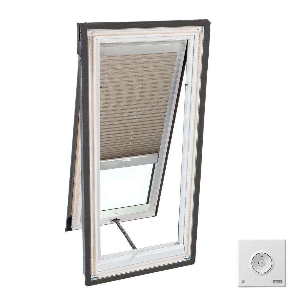 Velux Cappuccino Solar Powered Light Filtering Skylight Blind For Vs