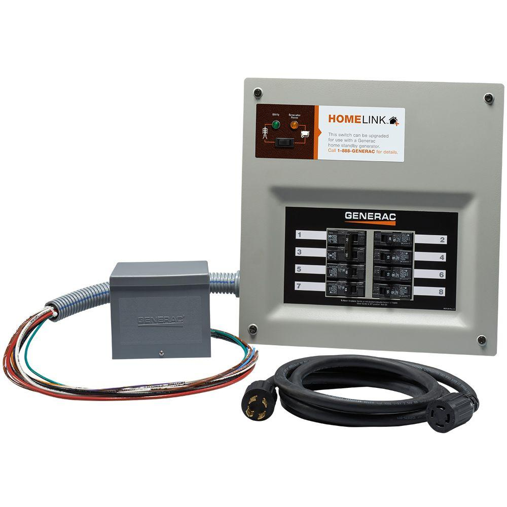 Upgradeable Manual Transfer Switch Kit for 8 Circuits