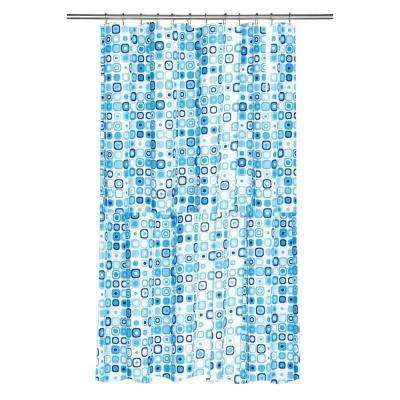 Shower Curtain in Geo Mosaic Blue