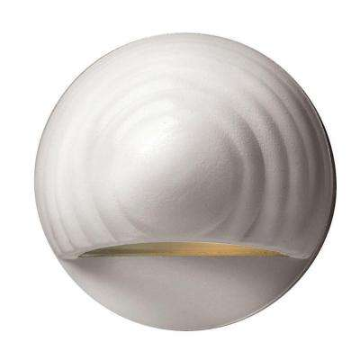Low-Voltage 7-Watt Matte White Round Deck Sconce