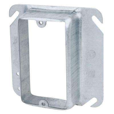 4 in. Metallic Square Device Cover for Single Device (Case of 25)