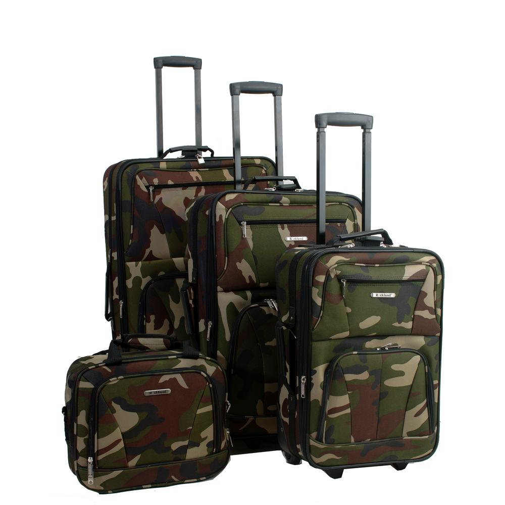 Rockland 4-Piece Luggage Set, Green