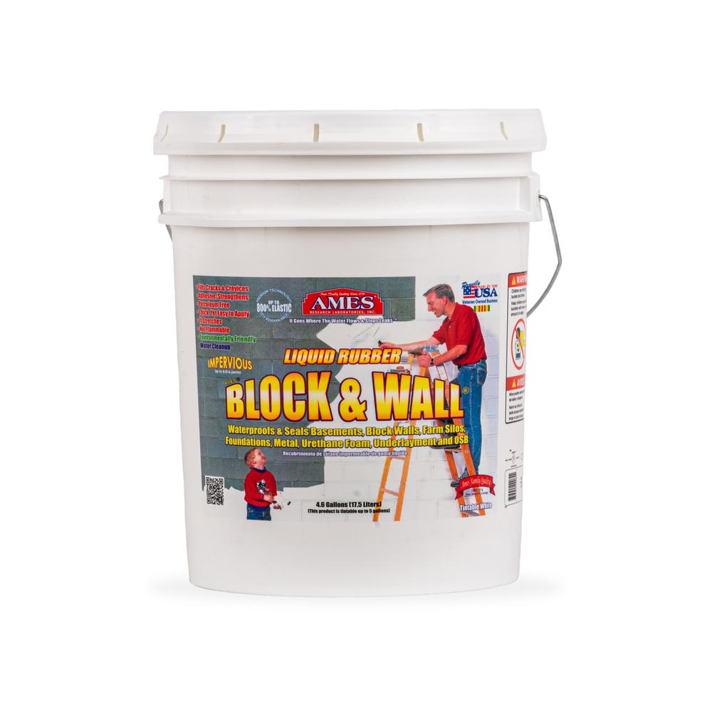 Ames Block and Wall 5 gal. Liquid Rubber Waterproof Sealant
