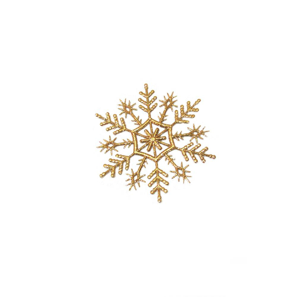 Home Accents Holiday Gold Snowflake Christmas Ornament (Pack of 21)